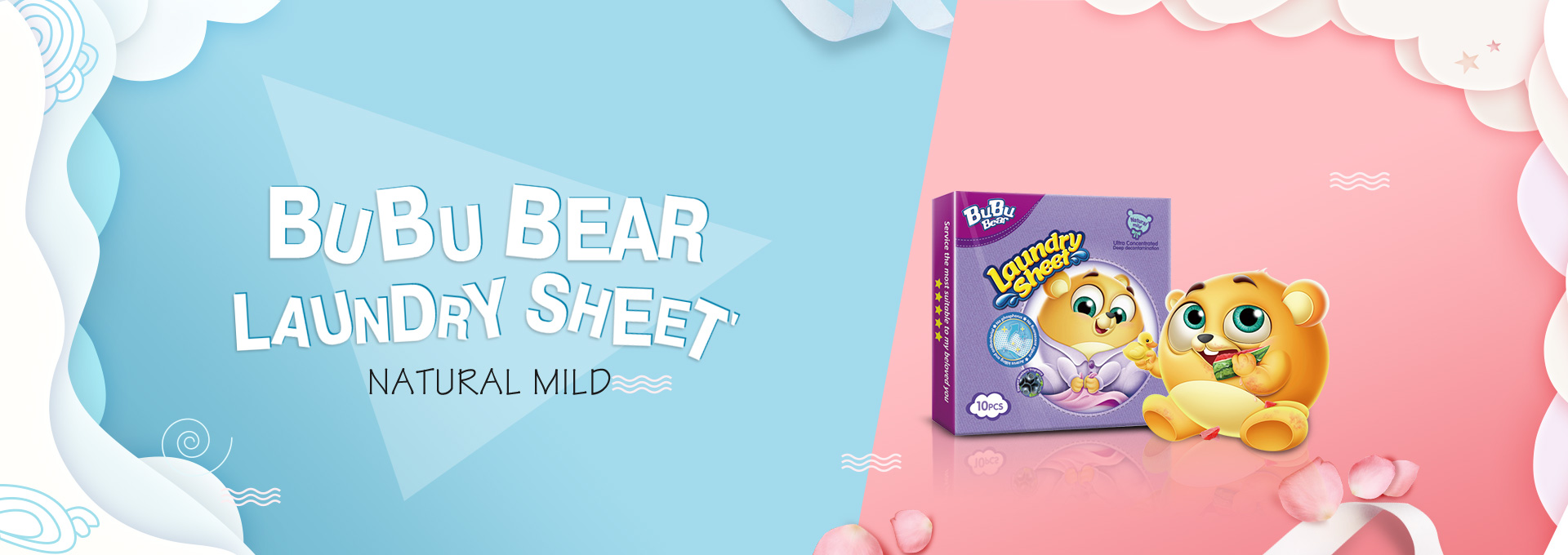 Natural Mild Laundry Sheet Underwear Pack 10pcs BUBUBEAR